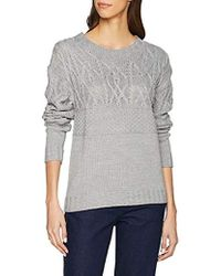 Dorothy Perkins Cable Shoulder Jumper in Green Lyst