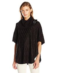 Calvin Klein - Cabled Cape With Buckles - Lyst