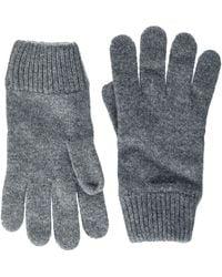 GANT D1. Knitted Wool Gloves Guanti - Grigio