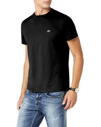 Lacoste Pima Cotton Black T-shirt Th670900031