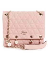 Guess Fleur Crossbody Flap Bag Rose - Pink