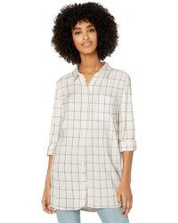Goodthreads Modal Twill Long-Sleeve Button-Front Shirt Dress - Blanc
