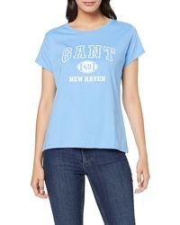GANT - MD. The Summer Logo SS T-Shirt - Lyst