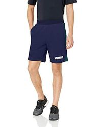 """PUMA Rebel French Terry Shorts 9"""" - Blue"""