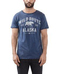 Esprit 116EE2K020 - Print, T-shirt Uomo, Blu (Blue), X-Large