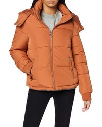 Miss Selfridge Sporty Puffer Quilted Jacket - Brown