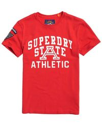 Superdry T-Shirt Upstate Wash - Rouge