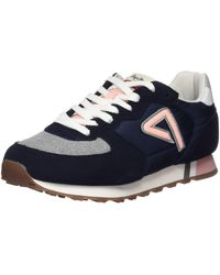 Pepe Jeans Klein Archive Summer W Chambray Trainers - Blue