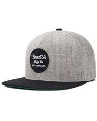 1c98b0dbaf7 Lyst - Brixton Rival Medium Profile Adjustable Snapback Hat in Green ...