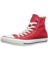 Converse Chuck Taylor All Star Hi, Baskets mode mixte adulte - Rouge