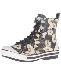 Rocket Dog - Rainy Midnight Floral Rubber Printed Rain Boot - Lyst