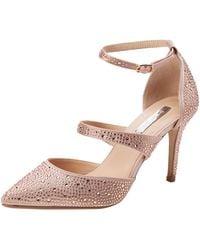 Dorothy Perkins Gingera Diamante Trim Court Shoes Closed Toe Heels - Pink