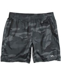 """RVCA Sport Yogger Iv 17"""" Workout Short Brown X-large - Blue"""