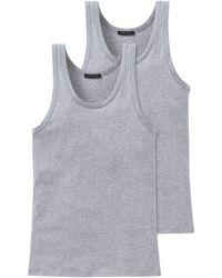 Schiesser Unterhemd 2 er Pack 103401-202 - Grau