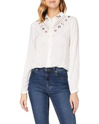 Superdry Sandy Emb Shirt Blouse - Black