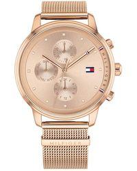 Tommy Hilfiger Reloj Multiesfera para Mujer de Cuarzo con Correa en Acero Inoxidable 1781907 - Metálico