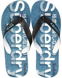 Superdry Scuba Perforated Flip Flop - Bleu