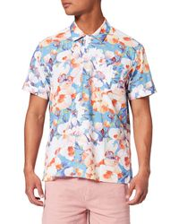 Springfield Bowling Flowers Camisa - Azul