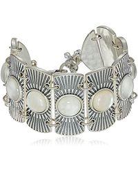 Lucky Brand - S Metal Statement Bracelet, Silver, One Size - Lyst