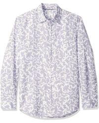 Amazon Essentials Camicia da uomo in lino - Bianco
