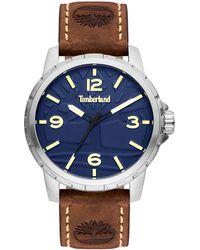 Timberland Reloj Analógico para Hombre de Cuarzo con Correa en Cuero TBL15257JS.03 - Azul
