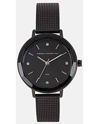 French Connection - S Analogue Classic Quartz Watch With Stainless Steel Strap Fc1318bm - Lyst
