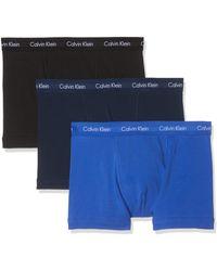 Calvin Klein Low Rise Trunk 3pk Boxer - Bleu