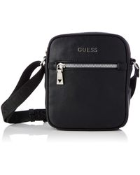 Guess Scala Mini Document Case Bags Briefcase - Black