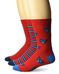 DIESEL - Skm-ray-three Pack Cats, Red, Sock Size:10-13/shoe Size: 6-12 - Lyst