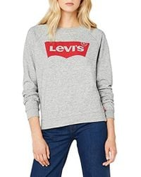 Levi's Relaxed Graphic Crew Sudadera para Mujer - Multicolor