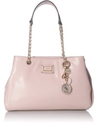 Guess Shannon Large Girlfriend Satchel - Pink