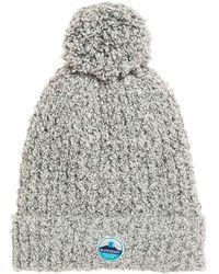 Superdry Clarrie Stitch Beanie Bonnet - Gris