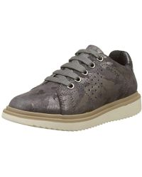 Geox J744FA00077, Zapatos de Cordones Unisex Adulto - Gris