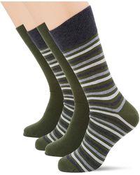 Esprit Multistripe Chaussettes - Vert