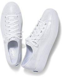Keds - Triple Kick Metallic Linen Sneaker - Lyst