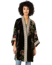 bc49596b6 Johnny Was Landon Geometric-embroidered Cardigan in Black - Lyst
