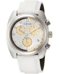 Calvin Klein Reloj Cronógrafo para Hombre de Cuarzo con Correa en Cuero K8W371L6 - Metálico