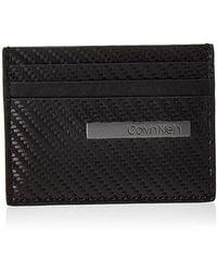 Calvin Klein Carbon Leather Cardholder - Borse a spalla Uomo - Nero