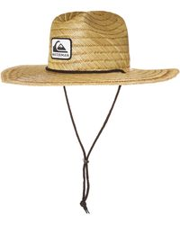 Quiksilver Sun Protection Straw Lifeguard Hat - Multicolor