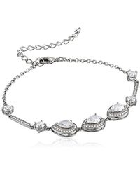 Nina - Tamela Pear Shaped Haloed Bracelet - Lyst