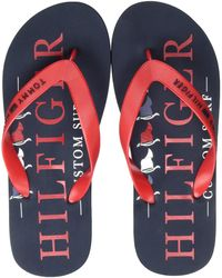 Tommy Hilfiger - Nautical Print Beach Sandal - Lyst