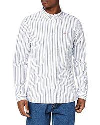 Tommy Jeans Tjm Classics Poplin Stripe Shirt Camicia Uomo