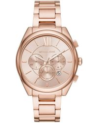 Michael Kors - Janelle Chronograph Rose Gold-Tone Stainless Steel Watch MK7108 - Lyst