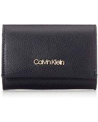 Calvin Klein Damen Enfold Card Holder Wallet Umhängetasche, 3x8.5x11 cm - Schwarz