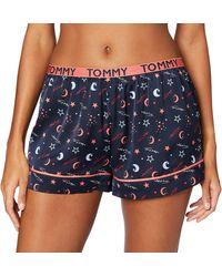 Tommy Hilfiger Short Woven Bas De Pyjama - Bleu