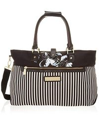 """Vince Camuto 17"""" Carry On Travel Weekender Bag, Black, One Size"""