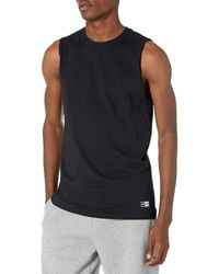 Russell Athletic Cotton Performance Sleeveless Muscle T-shirt,black,xxx-large