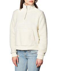 Calvin Klein Sherpa Mock Neck Zip Suéter - Neutro