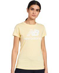 New Balance T-Shirt Esse ST Logo Tee WT91546 Sunglow - Gelb