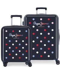 Pepe Jeans Emma Rigid Suitcase Set 55-70 Cm Navy Blue